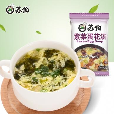苏伯8g装紫菜蛋花速食汤