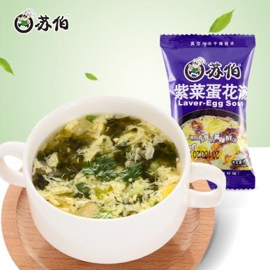 苏伯12g装紫菜蛋花速食汤