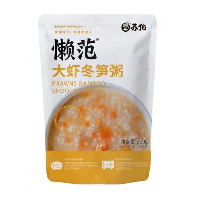 大虾冬笋粥