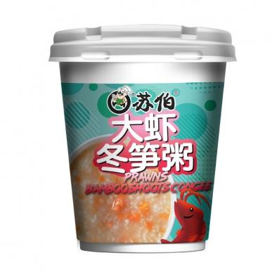 上海大虾冬笋粥